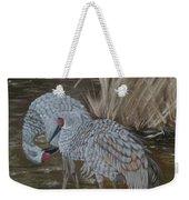 Sandhill Crane Couple Weekender Tote Bag
