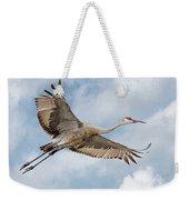 Sandhill Crane In Flight Weekender Tote Bag