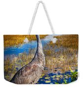 Sandhill Crane In The Glades Weekender Tote Bag