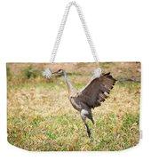 Sandhill Crane Morning Stretch Weekender Tote Bag