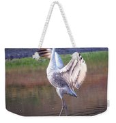 Sandhill Crane Painted Weekender Tote Bag