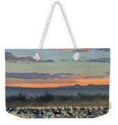 Sandhill Cranes And Snow Geese Weekender Tote Bag
