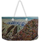 Looking Down From The Sandia Mountains Weekender Tote Bag