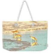 Sandpipers Along The Shoreline Weekender Tote Bag