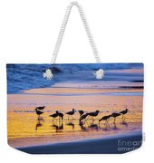 Sandpipers In A Golden Pool Of Light Weekender Tote Bag