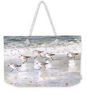 Sandpipers On Siesta Key Weekender Tote Bag