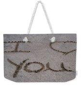 Sandscript - I Love You Weekender Tote Bag