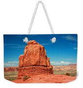 Sandstone Monolith, Courthouse Towers, Arches National Park Weekender Tote Bag