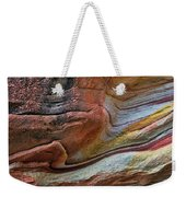Sandstone Strata - Abstract Weekender Tote Bag