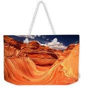 Sandstone Waves And Clouds Weekender Tote Bag