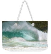 Sandy Beach Shorebreak Weekender Tote Bag