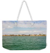Sandy Neck Lighthouse And Cottages, Barnstable, Massachusetts, U.s.a. Weekender Tote Bag