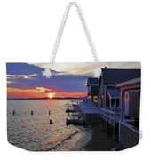 Sandy Neck Sunset At The Cottages Weekender Tote Bag
