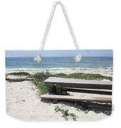 Sandy Picnic Table Weekender Tote Bag