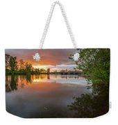 Sandy River Sunset Weekender Tote Bag