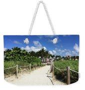 Sandy Trail Miami Florida Weekender Tote Bag