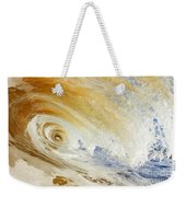 Sandy Wave Crashing Weekender Tote Bag