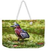 Sanibel Green Heron Weekender Tote Bag