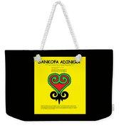 Sankofa Adinkra Weekender Tote Bag