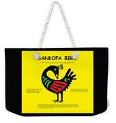 Sankofa Bird Of Knowledge Weekender Tote Bag