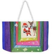Santa And His Reindeer Weekender Tote Bag