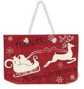 Santa And Reindeer Sleigh Weekender Tote Bag