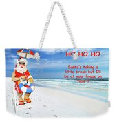 Santa Christmas Greeting Card Weekender Tote Bag