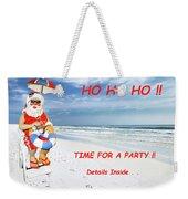 Santa Christmas Party Invitation Weekender Tote Bag