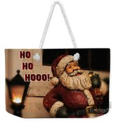 Santa Claus Christmas Card Weekender Tote Bag
