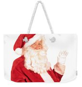 Santa Claus Waving Hand Weekender Tote Bag