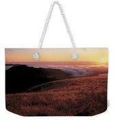Santa Cruz Mountains At Sunset Ca Usa Weekender Tote Bag