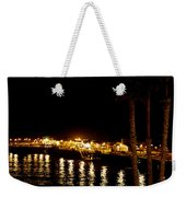 Santa Cruz Pier At Night Weekender Tote Bag