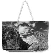 Santa Elena Canyon Black And White Weekender Tote Bag