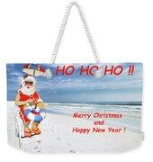 Santa Merry Christmas And Happy New Year Card Weekender Tote Bag