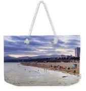 Santa Monica Sunset Panorama Weekender Tote Bag