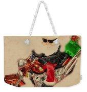 Santa On Motorcycle  Weekender Tote Bag
