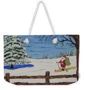 Santa On Skis Weekender Tote Bag