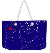 Santa Rudolph Stars Blue 2 Weekender Tote Bag