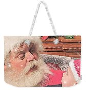 Santa Stars  Weekender Tote Bag
