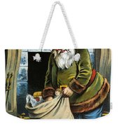 Santa Unpacks His Bag Of Toys On Christmas Eve Weekender Tote Bag