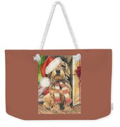 Santas Little Yelper Weekender Tote Bag