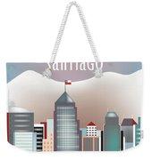 Santiago Chile Horizontal Skyline Weekender Tote Bag