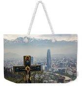 Santiago Chile Panoramic Weekender Tote Bag