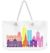 Santiago De Cali Skyline Pop Weekender Tote Bag