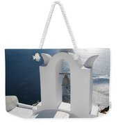 Santorini Bell Tower Casts Shadow Weekender Tote Bag