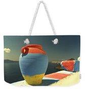 Santorini Color Weekender Tote Bag