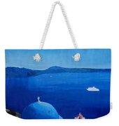 Santorini Greece View From Oia To Caldera Weekender Tote Bag