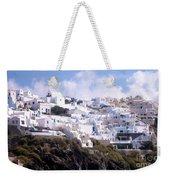 Santorini Hillside 2 Weekender Tote Bag