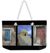 Santorini Memories Weekender Tote Bag