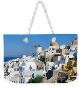 Santorini Oia Weekender Tote Bag